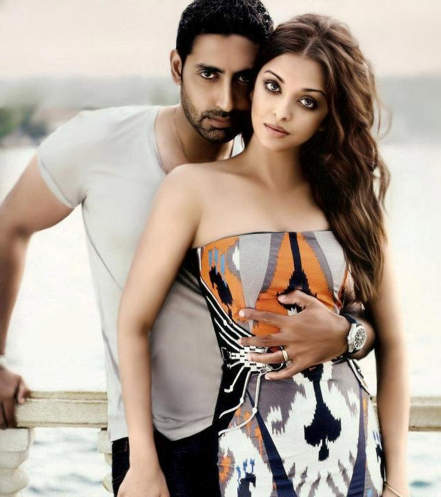 Aishwarya Rai and Abhishek Bachchan. Photos