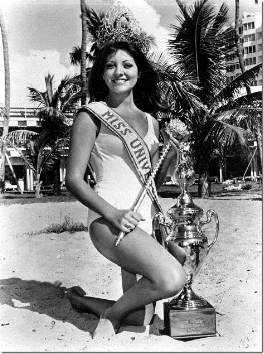 Georgina Rizk (Lebanon) - Miss Universe 1971. Photo