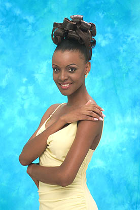 Mpule Kwelagobe (Botswana) - Miss Universe 1999. Photo