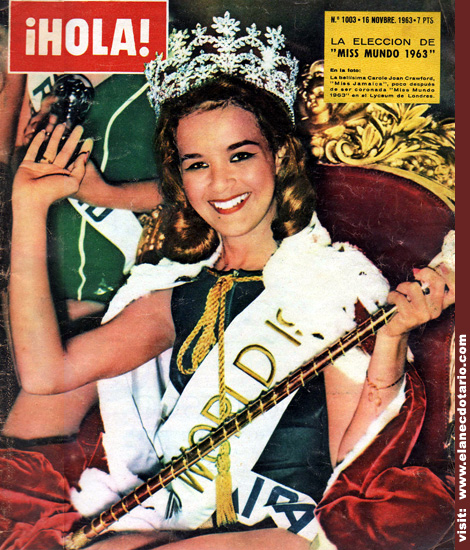 Carole Crawford (Jamaica), Miss World 1963. Photo