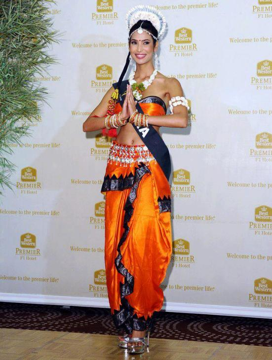 Prachi Mishra in National Costume. photo