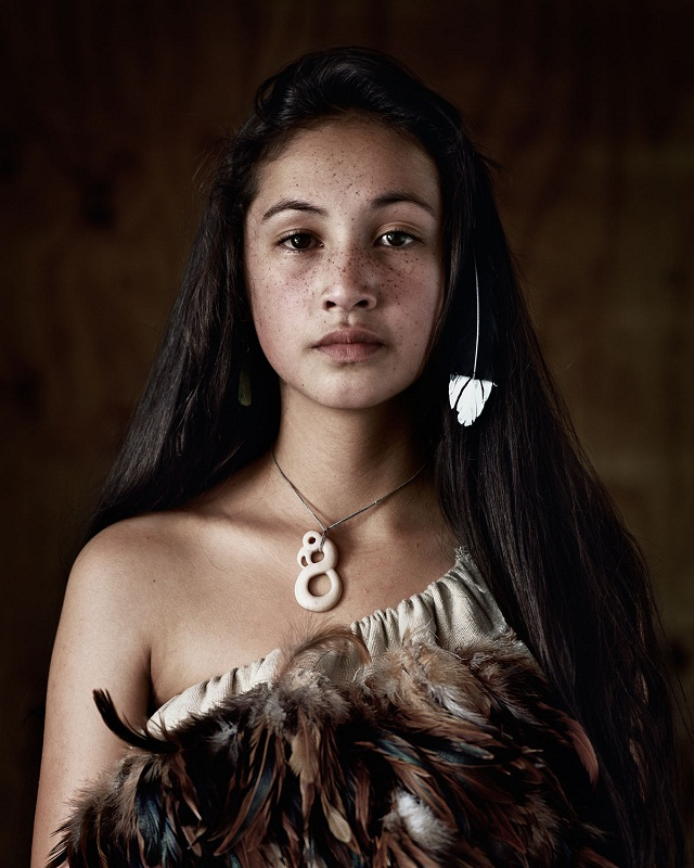 Beautiful modern Maori girl photo