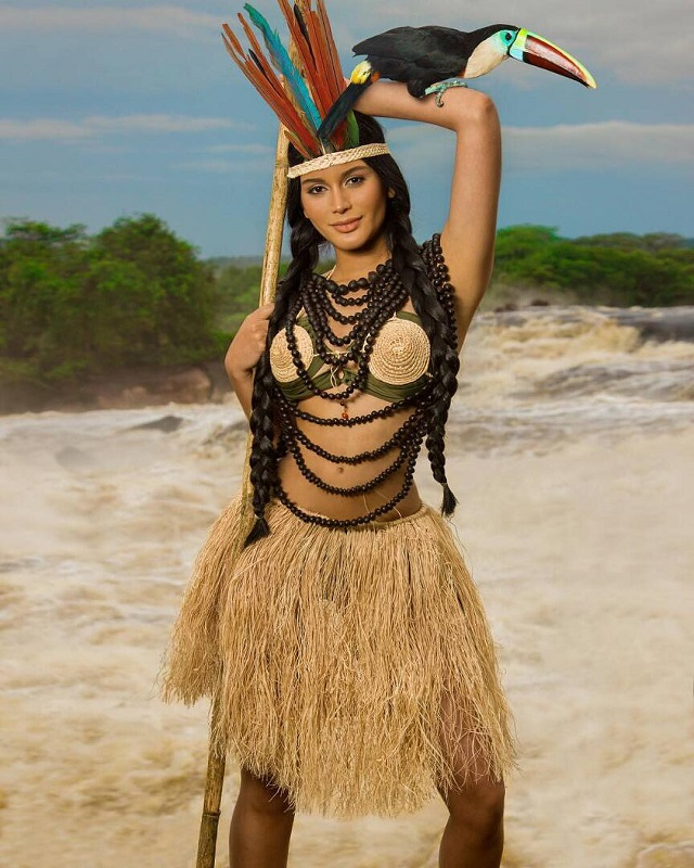 Sthefany Gutierrez in Native American Costume