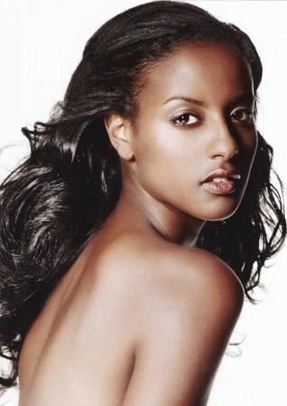 Sara Nuru, German fashion model of Ethiopian descent. photo