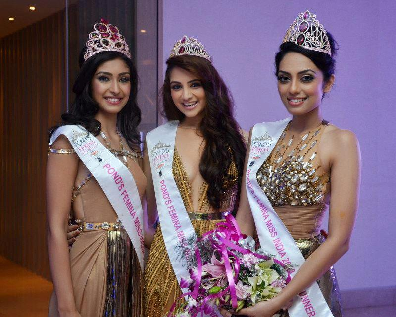 Miss India 2013 Winners: Navneet Kaur Dhillon, Zoya Afroz, Sobhita Dhulipala. photo