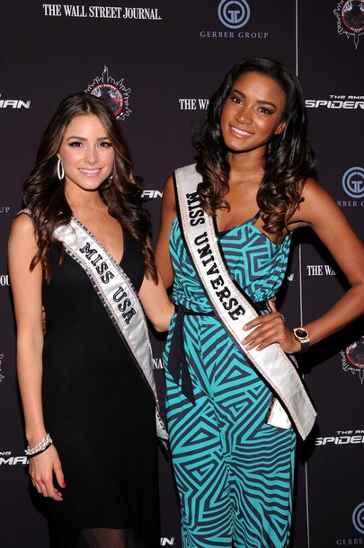 Olivia Culpo and Leila Lopes (Miss Universe 2011). photo
