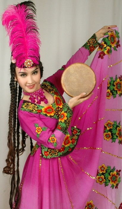 beautiful uyghur girl Elmira Saydullaeva. photo