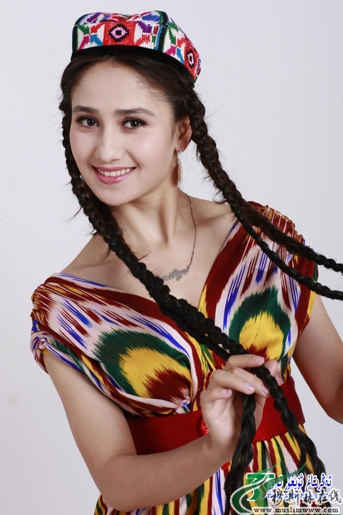 Paziliya Gulam Uyghur singer (group Gul Yaru from Xinjiang). photo