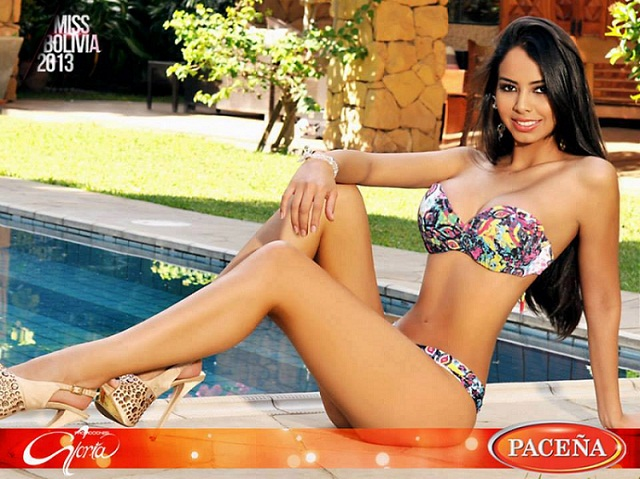 Maria Alejandra Castillo is Miss Bolivia World 2013. hot photo
