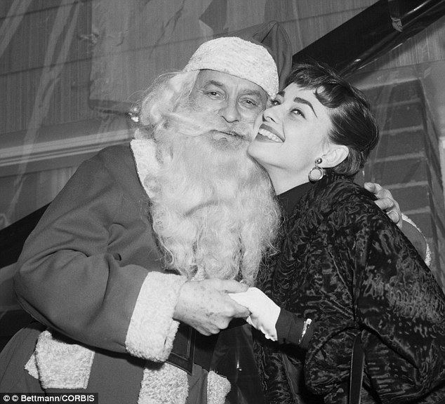 Audrey Hepburn Christmas photo