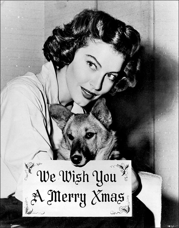 Ava Gardner Christmas photo