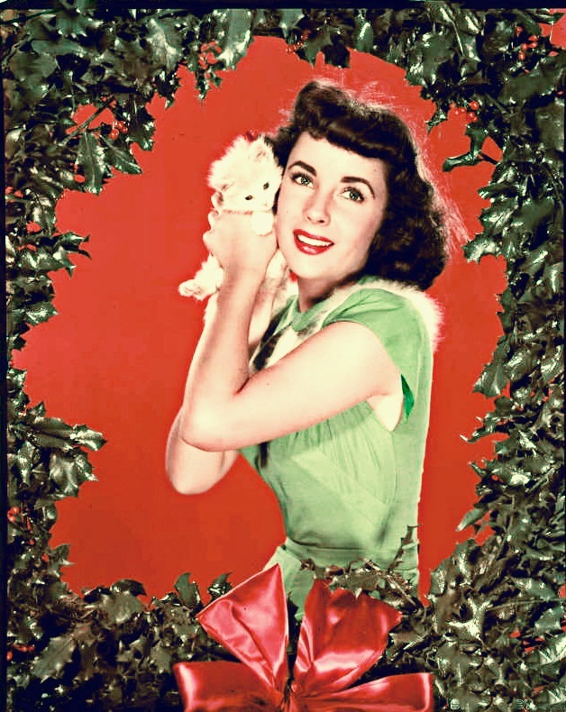Elizabeth Taylor Christmas photo