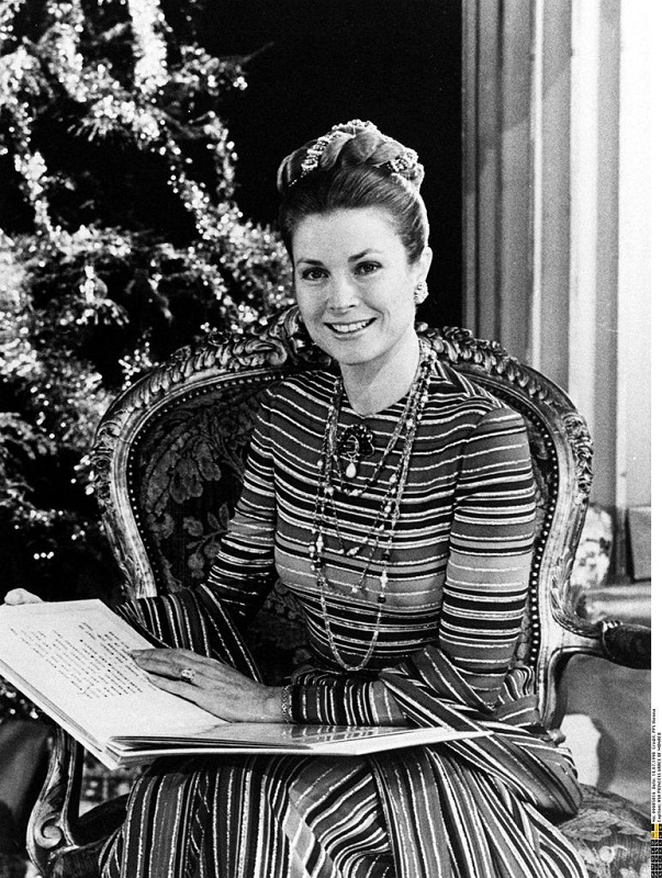 Grace Kelly 1973 Christmas photo