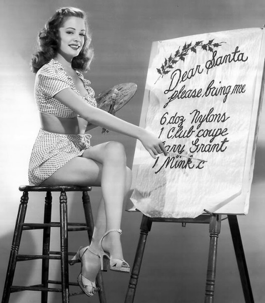 Jane Greer Christmas photo