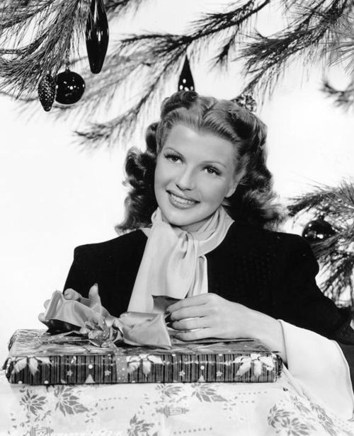 Rita Hayworth Christmas photo