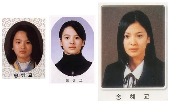 Song Hye Kyo in childhood photo
