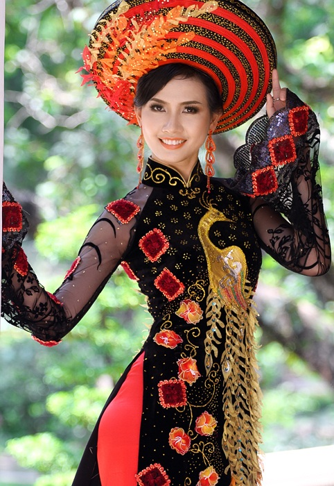 vietnamese woman in ao dai photo