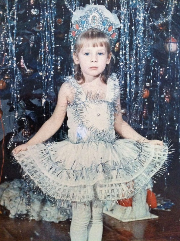 Yulia Alipova in a childhood